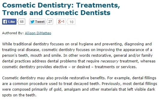 Cosmetics Dentistry