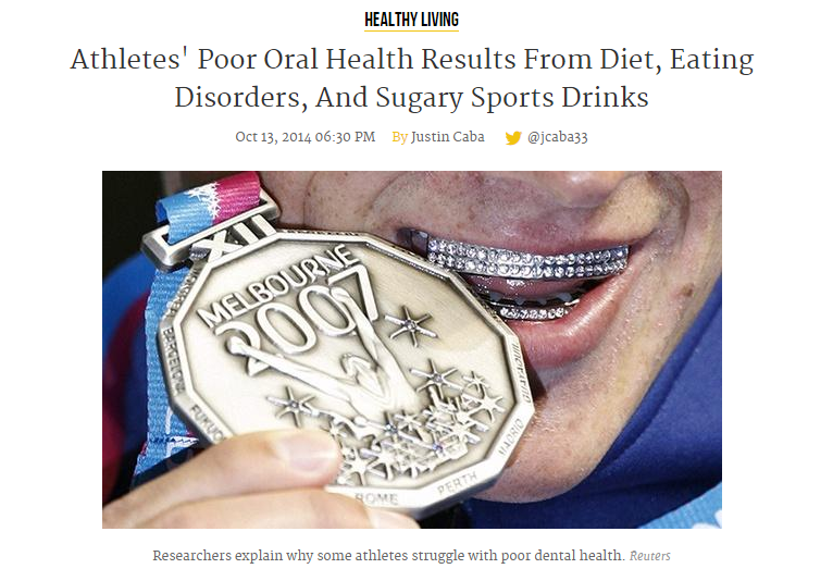 Athletes Poor Oral Health Results From Diet, Eating Disorders, And Sugary Sports Drinks